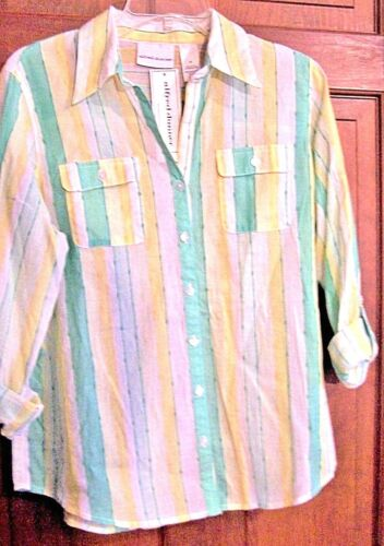 Shirt Ladies 2 Alfred Long New Sleeved Striped Pockets Dunner Multi With Chest WXgnTC