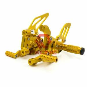 FXCNC-For-Ducati-2012-2014-1199-Panigale-S-CNC-Footpegs-Rearsets-Footrests-Gold