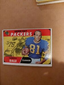 Green Bay Packers Football Card topps1968#27 Carroll Dale FL