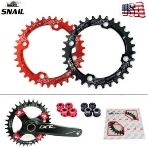 SNAIL-104bcd-MTB-Bike-Chainring-32-42T-Round-Oval-Narrow-Wide-Bicycle-Chain-Ring