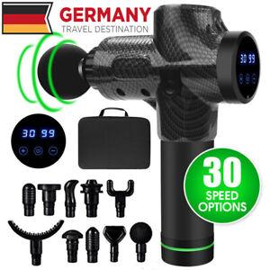 EU-Electric-Massage-Gun-Massagepistole-Massager-Muscle-Massagegeraet-mit-10-Koepfe