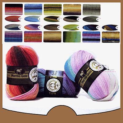 Ören Bayan Madame Tricote Paris Merino Gold Batik Design 100g 400m Wolle Angebot