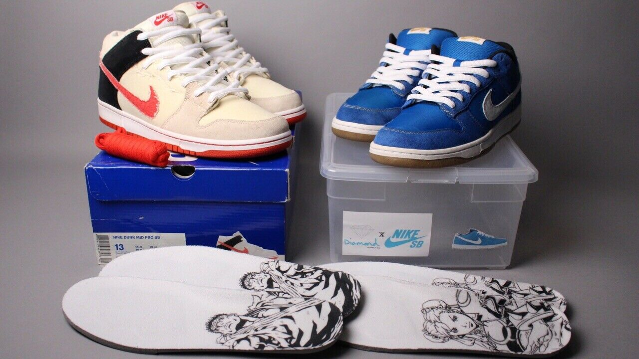 """Nike SB Dunk Mid Low Premium 2010 """"Street Fighter Pack""""Size 13 12 EXTREMELY RARE"""