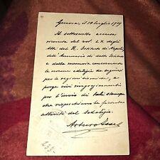 Cartolina Viaggiata 1909 Genova Napoli Arturo Issel Nitti