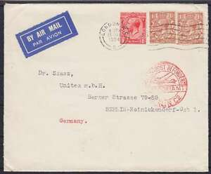 GB-Lupo-Airmail-Letter-1934-Drilled-London-Berlin-C2-United-Kingdom-Air-Mail