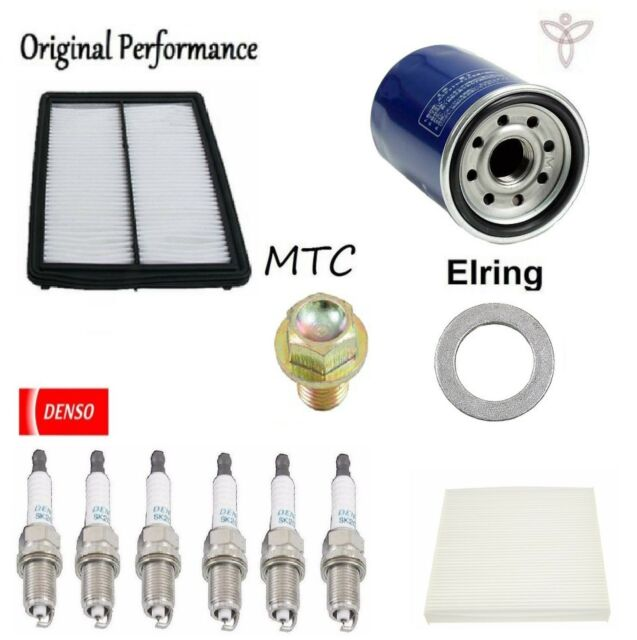 Tune Up Kit Cabin Air Oil Filters Plugs For Acura TSX V6