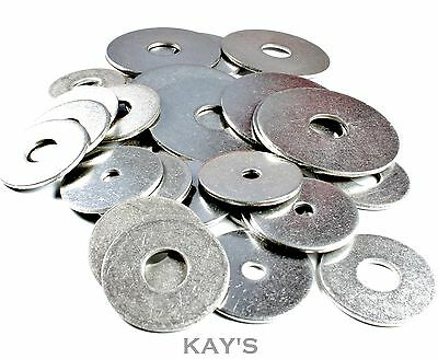 4 x 2mm Stainless Steel Washers 50mm OD x 20mm ID