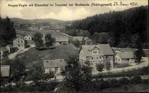 Herges-Vogtel-Thueringer-Wald-AK-1920-mit-Elmenthal-im-Trusetal-bei-Brotterode