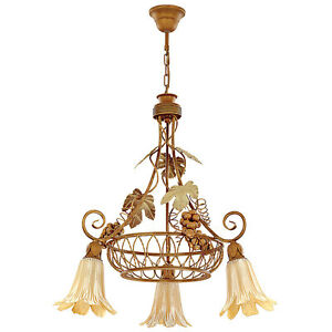 h ngelampe h ngeleuchte pendellampe lampe wohnzimmer landhaus retro wino ebay. Black Bedroom Furniture Sets. Home Design Ideas