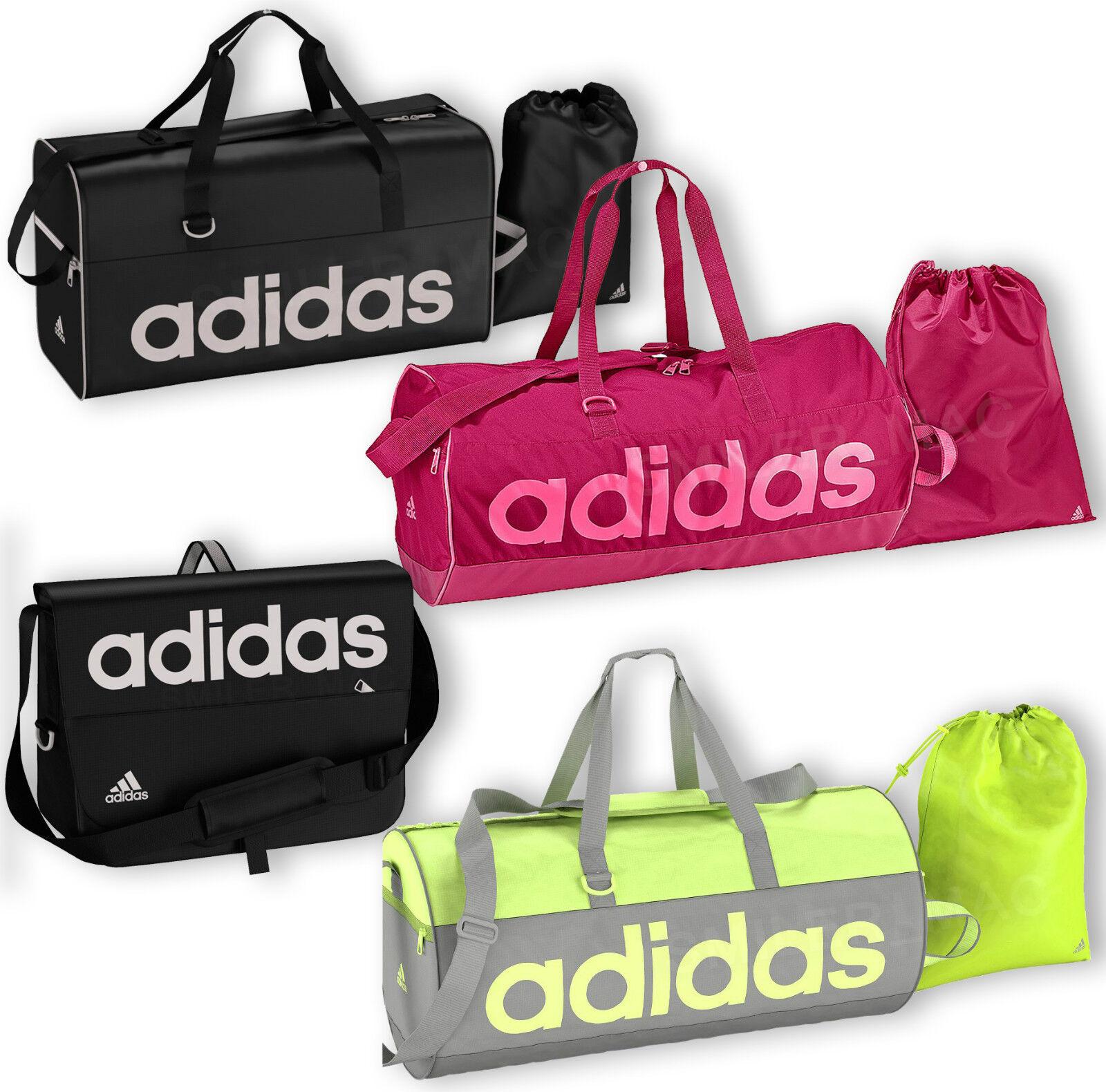 Adidas Linear Holdall Messenger Bag Sports Gym Mens Boys Ladies Girls Womens