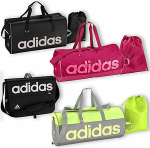 9aad745a368bb7 Adidas Linear Holdall Messenger Bag Sports Gym Mens Boys Ladies ...