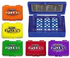 Classic Farkel Flat Dice Game Pocket Pack Travel Size Farkle Fun