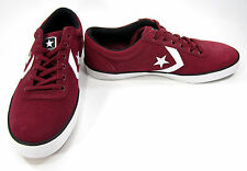 Converse Shoes All Star Wells Ox Suede Maroon Red Sneakers Size 11.5 EUR 46