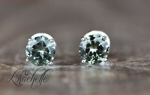 2-0-ct-Round-Cut-Green-Tourmaline-Screw-Back-Earring-Studs-14K-White-Gold