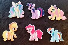 6 x My Little Pony Planar Flatback Resin Flat Back Hair Bow Craft Resins