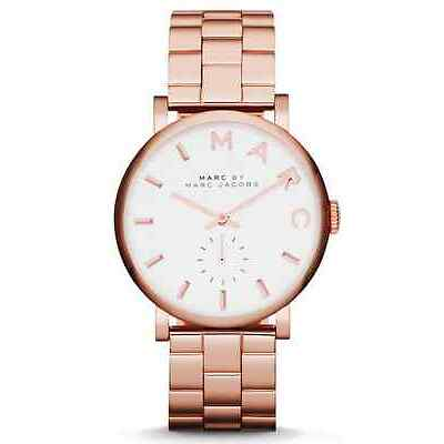 NEW MARC JACOBS MBM3244 LADIES ROSE GOLD BAKER WATCH - 2 YEAR WARRANTY