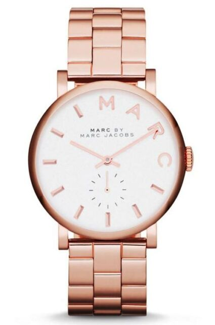 NEW MARC JACOBS MBM3244 LADIES ROSE GOLD BAKER WATCH - 2 YEARS WARRANTY
