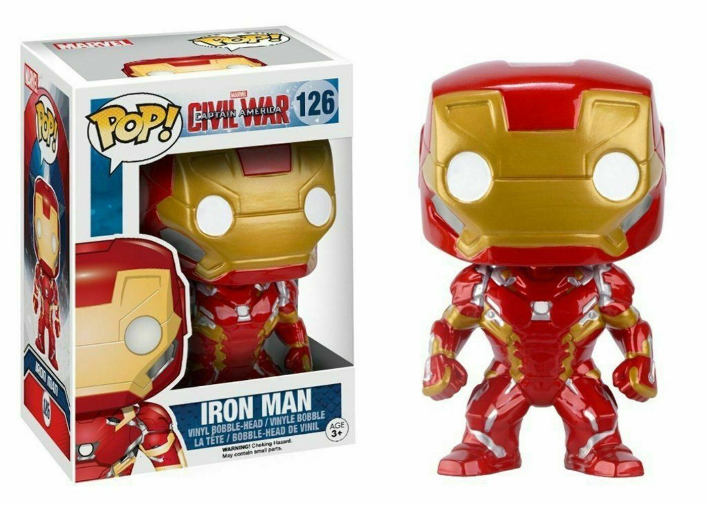 Civil War Pop  Funko Iron Man Vinyl Figure Marvel n° 126