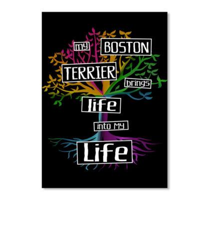 Portrait Details about  /Boston Terrier Brings Life Sticker