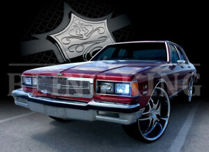 Details about 1986-1990 Chevy Caprice chrome mesh grille grill dual weave  bentley mesh 1pc