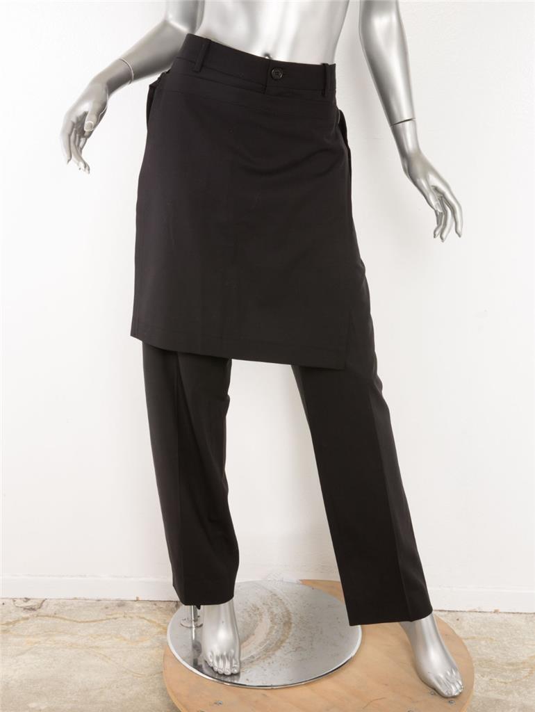 Öffentlichkeit Schule Damen Schwarz Schwarz Schwarz Ayman Apron-Pants Wrap-Skirt Satz 32 Neu ce5367