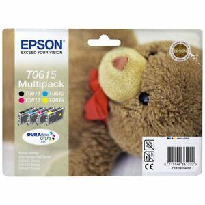 Originale-Epson-T0615-Multipack-Teddy-Bear-Stylus-D68-D88-DX3800-DX3850-DX4200-O
