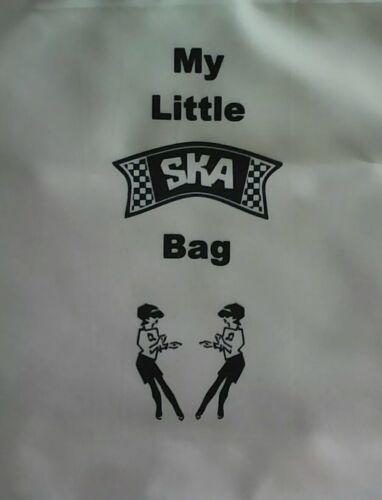 Canvas Tote Bag Bag For Life Two Tone. Ska print