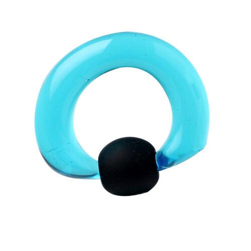 1PC Captive Bead Ring acrylic Rubber beads lobe Tragus  Eyebrow Stud piercing