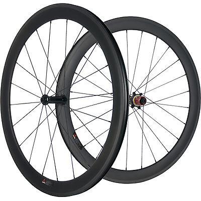 Carbon Wheels Road Bike 50mm Carbon Clincher Wheelset Chosen 7187 Cycling Wheel