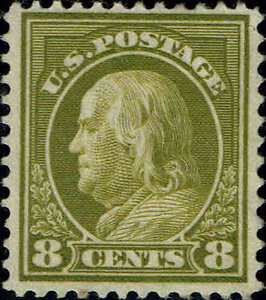 #414 8 CENT 1912 PERF 12 ISSUE VERY MINT-OG/H--VF