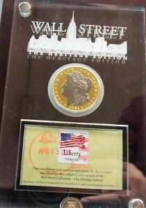 STATI-UNITI-Dollar-Morgan-1921-S-034-Wall-Street-Collection-034-CON-ORO-E-PLATINO