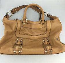 Banana Republic Handbag Leather Doctors Bag Purse Designer Bag Tan Brown