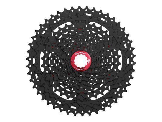 Sunrace 10-fach Casete CSMX3 11-42 Dientes schwarz con rot Lockring