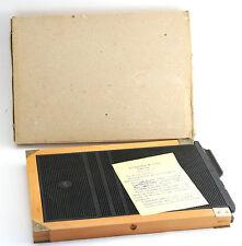 NEW NOS FKD 18x24cm VINTAGE FILM HOLDER CASSETTE wooden LARGE FORMAT camera