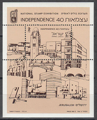 Israel / ישראל Nr Block 37** Briefmarkenausstellung Independence 40 Top Wassermelonen 1089**