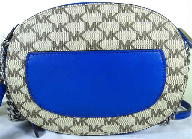 b77f1cf659bca4 Michael Kors Ginny Medium Logo Crossbody Messenger Bag 3 Colors Blue ...