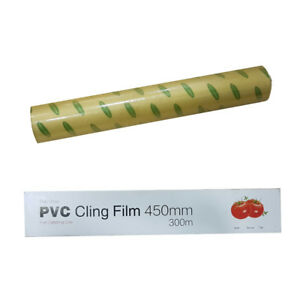 Kitchen-Roll-Catering-Cling-Film-Food-Baking-Wrapping-450mm-x-300m-Cutter-DCUK