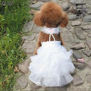 Cotton Beading Wedding Dog Dress Chiwawa Clothing For Dogs Pet Puppy ...