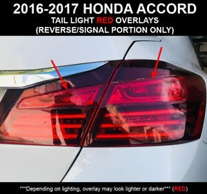 Image Is Loading 2016 17 Honda Accord Sedan Ruby Red Rear