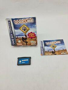 GAME BOY GAMEBOY ADVANCE GBA BOXED BOITE OVP NINTENDO ZOOCUBE ZOO CUBE EUR FAH