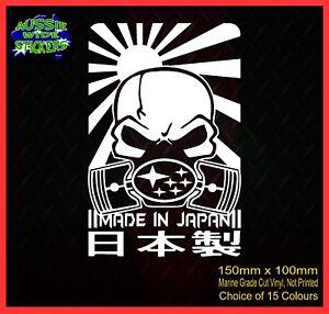 SUBARU-WRX-STi-cut-vinyl-decal-JDM-Stickers-MADE-IN-JAPAN-150mm