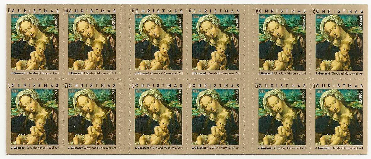 2013 46c Christmas Madonna & Child by Jan Gossaert Scot