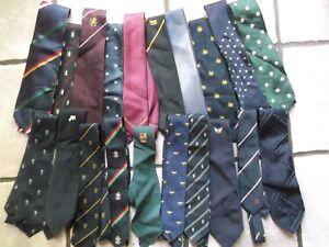 Job-Lot-40-X-MENS-Vintage-Club-Association-Crested-Tie-1960s-1970s-1980s-JOBLOT