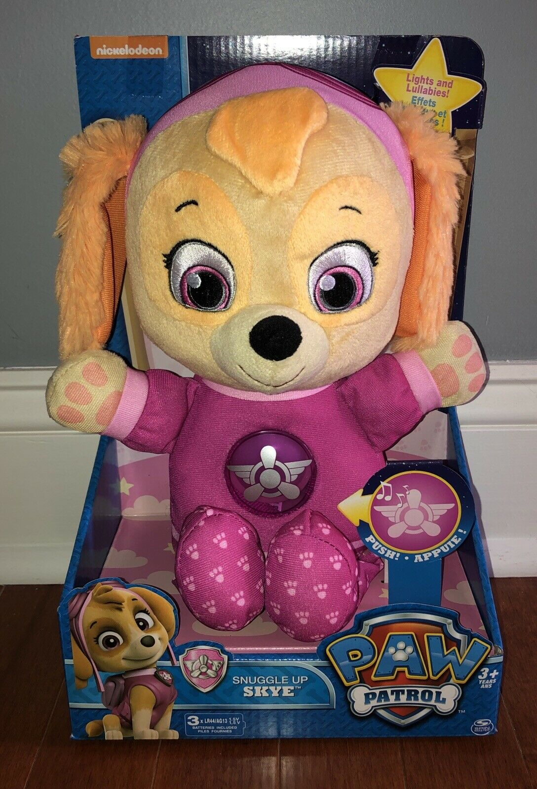 Paw Patrol Snuggle Up Lights and Sounds Skye Doll Plush Toy New Night light 2019
