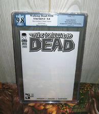 The Walking Dead #100 PGX 9.8 Hero Initiative BLANK VARIANT 1st Negan NO CGC