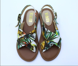 Women-Beach-Floral-Flat-Summer-Stagger-Casual-Low-heel-Open-Toe-Ladies-Fashion