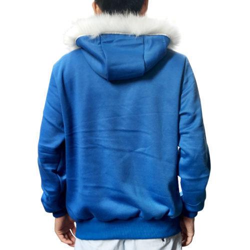 Undertale Sans Cosplay Costume Blue Hoodie Hooded Winter Coat Sweater Jacket New