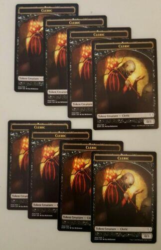 8x 004//016 Dominaria MTG Magic The Gathering NM Cleric Token