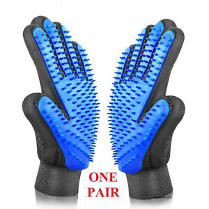 Pet-Hair-Remover-Glove-Brush-Dog-Cat-Grooming-Massage-Soft-Bath-Shedding-Glove