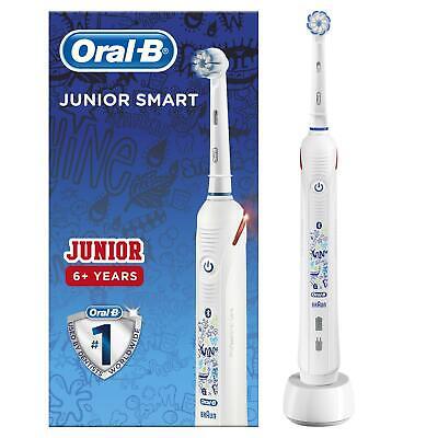 Oral B Junior Intelligente Spazzolino da denti elettrico ricaricabile sensi ultrasottile, 6 12 anni | eBay